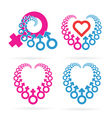 Male and Female Symbols Set vector image vector image