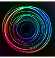 Abstract colorful Glow Circles on dark background vector image