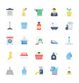 cleaning colored icons 1 vector image