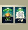 halloween party cartoon trick or treat vector image