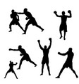 silhouette of black boxers on white background vector image
