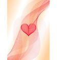 Sweet heart wavy card vector image