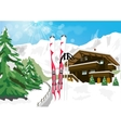 winter scenery with snow vector image
