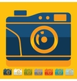 Flat design old photocamera vector image