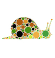 dotted snail vector image