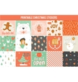 Collection of 15 Christmas gift tags and cards vector image