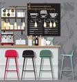 creative coffee shop vector image