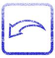 undo framed textured icon vector image