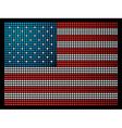 USA leds flag vector image