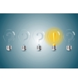 Set of stylized bulb lamps vector image vector image