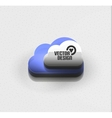 3d cloud computing concept icon vector image vector image