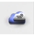 3d cloud computing concept icon vector image vector image