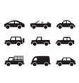 set of car icons in simple style vector image
