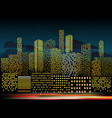 modern cityscape in the evening city buildings vector image vector image