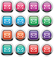 set of mail buttons vector image