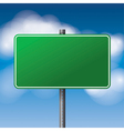 Green Blank Road Sign vector image vector image