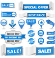 Blue Sale Banners vector image vector image