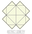 Abstract geometric figure with square vector image