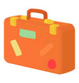 brown suitcase icon cartoon style vector image