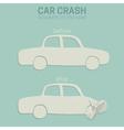 Car crash accident vector image