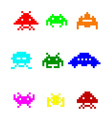 coloured space invaders vector image