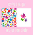 cover design with spring decorations pattern vector image