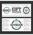 Gift voucher organic food vector image