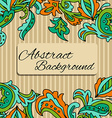Lace background with a place for text Black and vector image