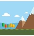 Mountain Ranges and Scenic Scenes vector image