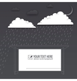 Protection of trouble rainy day background vector image