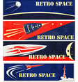 Retro Space Web Banners vector image
