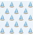 Sailing ships pattern vector image