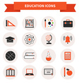 School Subject Icons vector image