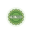 Tax free colorful icon vector image