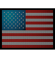 USA leds flag vector image