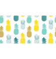 fresh blue yellow pineapples repeat vector image