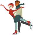 Couple on ice rink vector image vector image