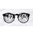 Poster sunglasses London vector image