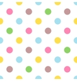 Seamless colorful polka pattern for easter eggs vector image vector image