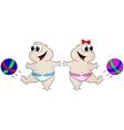 Babies football vector image