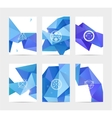 abstract blue user interface template set vector image