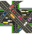 Abstract multilevel transport hub The vector image