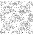 cabbage pattern contour coloring with dots vector image