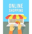 Online Shopping by Laptop vector image