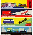 Retro Auto Delivery Web Banners vector image
