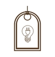 silhouette price tag of light bulb with connect vector image