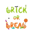 Trick or treat decorative halloween text vector image