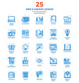Modern Flat Line Color Icons Web and Graphic vector image