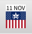 11 november veterans day banner vector image