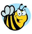 Smiling Yellow Bee vector image